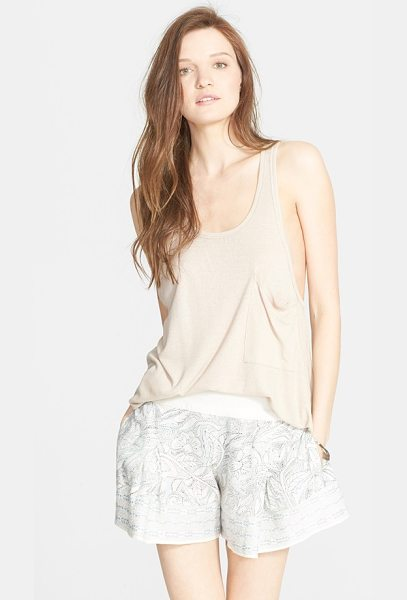 FREE PEOPLE hot pocket tank - This ribbed V-back pocket tank with dropped armholes...