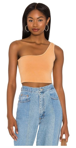 Free People hot shot one shoulder top in toasted coconut