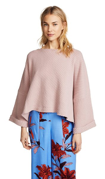 Free People i can't wait sweater in rose - Fabric: Knit Fixed cuffs Waist-length style One Shoulder...
