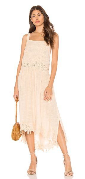 Free People In Your Arms Dress in beige - Cotton blend. Hand wash cold. Unlined. Pleated front....