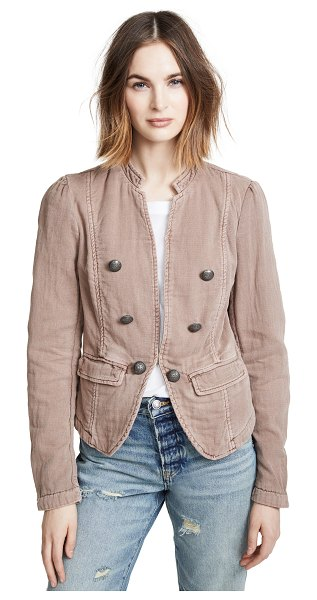 Free People jagger blazer in mauve - Fabric: Twill Faded style Lace-up detail at cuffs...