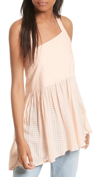 Free People just can't get enough cotton tank in pink - A gracefully sloped halter neckline echoes the...