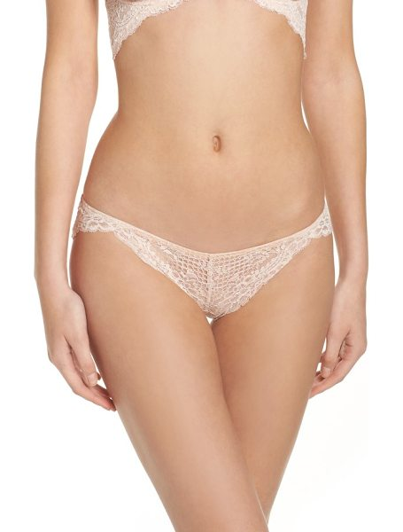 Free People intimately fp lace bikini in neutral combo - A low-rise bikini with floral lace and scalloped trim...