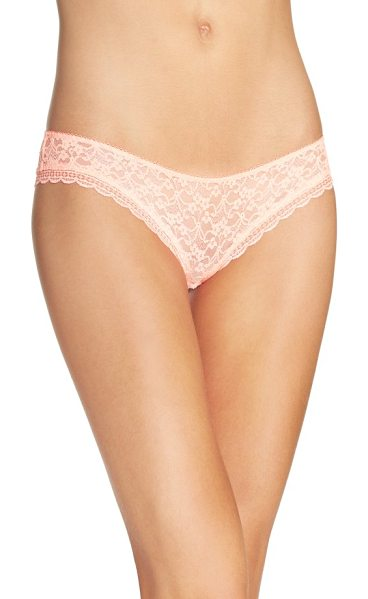 Free People intimately fp lace hipster briefs in coral