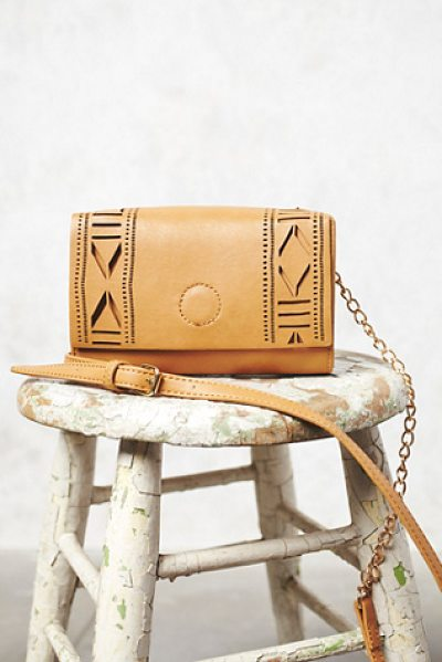 FREE PEOPLE Laser-cut crossbody - Laser-cut vegan leather crossbody multi-compartment...