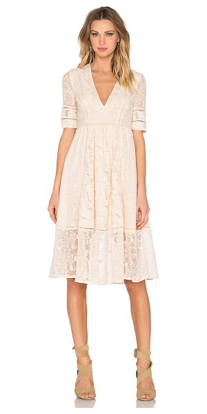 Free People Laurel lace dress in neutrals - Self: 75% cotton 25% nylonLining: 100% rayon. Hand wash...