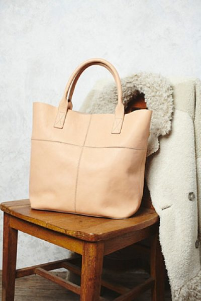 Free People Legends of the fall tote in natural - This luxe leather tote is perfect for everyday and is...