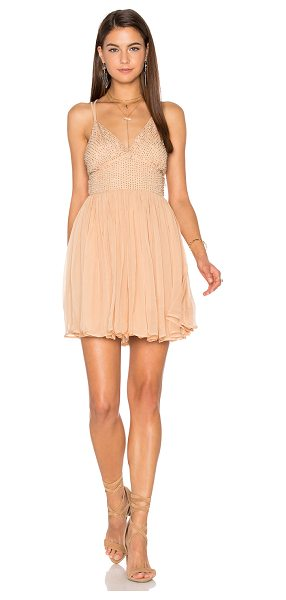 Free People Like a Diamond Dress in tan - 100% viscose. Hand wash cold. Fully lined. Beaded...