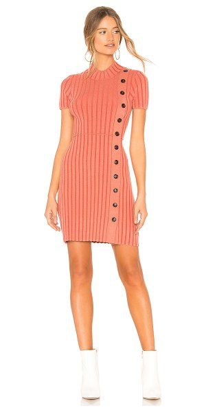 Free People Lottie Rib Dress in coral - Rayon blend. Hand wash cold. Unlined. Rib knit fabric....