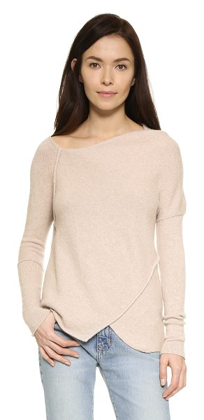 Free People Love & harmony sweater in oatmeal - Angled seams join the uneven panels on this Free People...