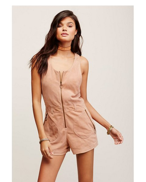 FREE PEOPLE Love me suede romper - In a retro-inspired silhouette this suede romper...