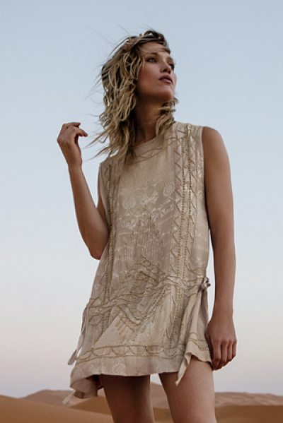 Free People Love story mini dress in toffee
