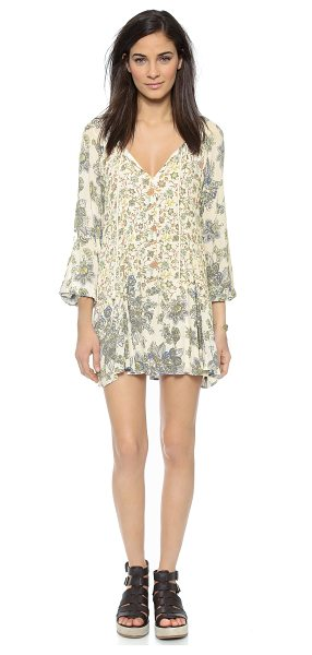 FREE PEOPLE Lucky lossey dress in honeysuckle - A vintage floral print lends a romantic touch to this...