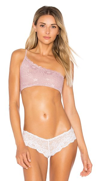 Free People Lyla Asymmetrical Bra in mauve