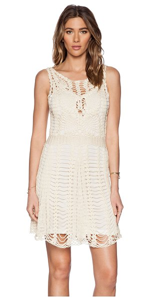 Free People Macrame mini dress in beige - Cotton blend. Fully lined. FREE-WD858. F029Z286. Free...