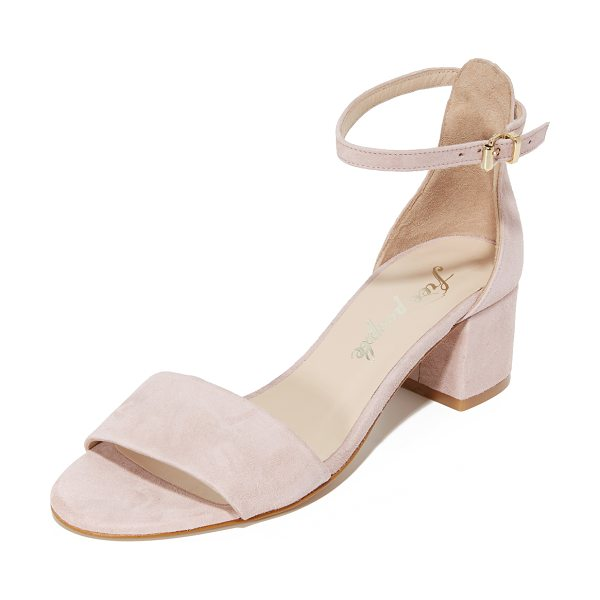 Free People marigold block heel sandals in mauve - Understated Free People sandals in rich suede....