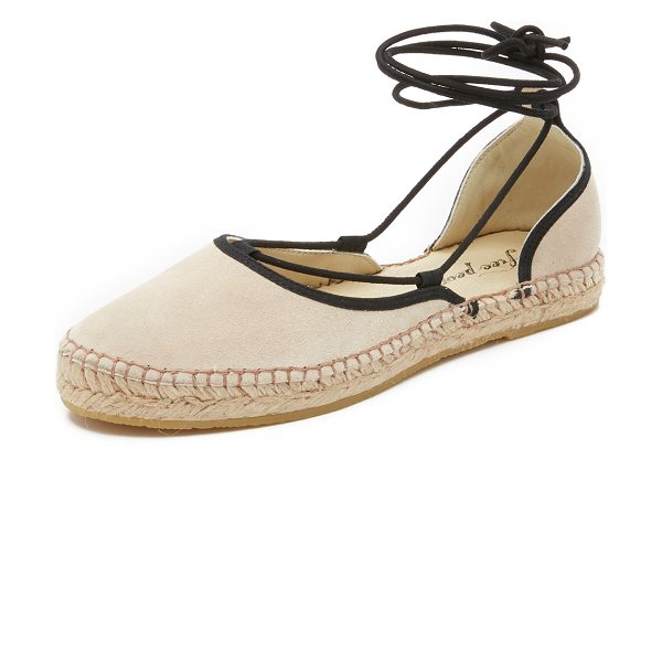 FREE PEOPLE Marina lace up espadrilles - Contrast laces accent these suede Free People...