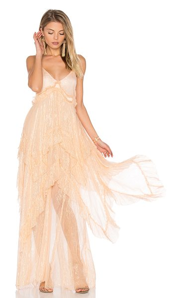 Free People Midnight Rendezvous Maxi Dress in pink - Poly blend. Partially lined. Adjustable shoulder straps....