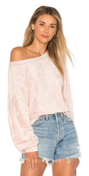Free People Milan Layering Pullover Sweater in pink - 81% poly 39% rayon. Banded edges. Stretch fit....