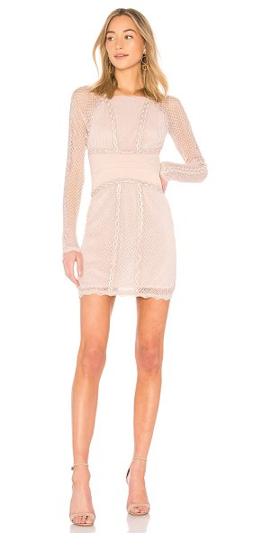 Free People Mixed Mesh Bodycon in beige - Self & Lining: 100% polyTrim: 65% rayon 31% nylon 4%...