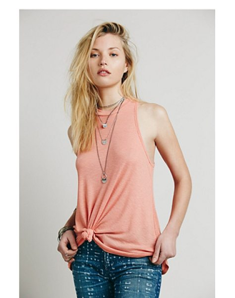 FREE PEOPLE Mock me tank - Soft American made ribbed mock neck tank.