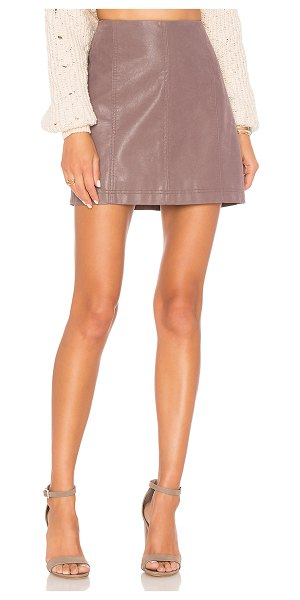 "Free People Modern Femme Vegan Suede Mini Skirt in mauve - ""Self & Lining: 100% rayon. Hand wash cold. Unlined...."