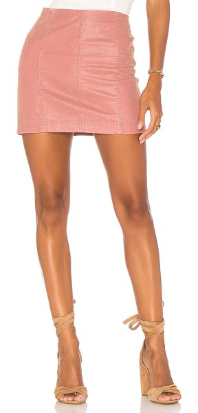 "Free People Modern Femme Vegan Suede Mini Skirt in pink - ""Self & Lining: 100% rayon. Hand wash cold. Fully lined...."