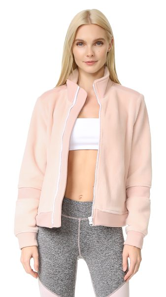 Free People movement timeless classic jacket in pink - This soft Free People track jacket is embellished with...