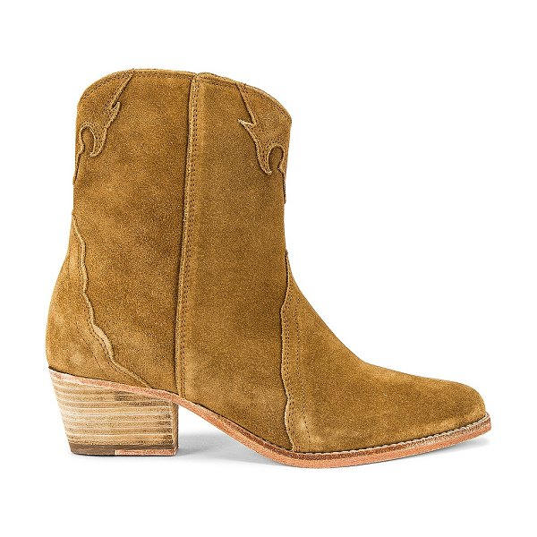 Free People new frontier western boot in camel suede