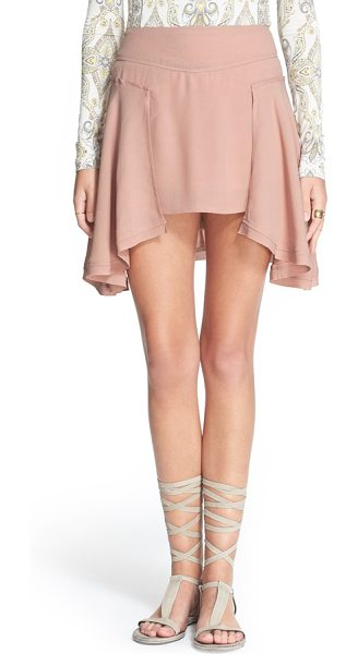 Free People new york miniskirt in pink - A waterfall of soft folds of fabric falls from each side...