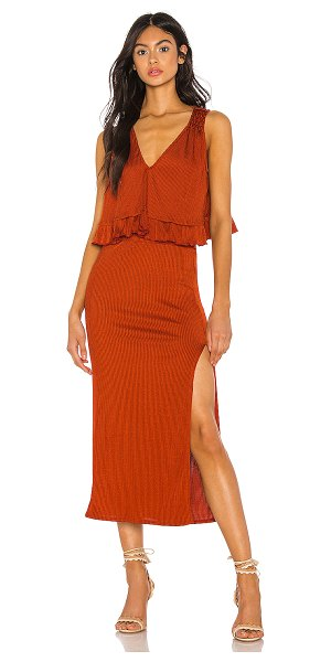 Free People no excuses skirt set in terracotta