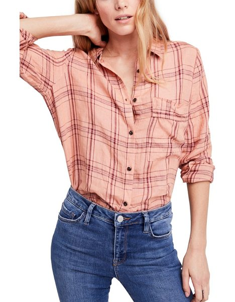 FREE PEOPLE no limits plaid linen shirt - It's hard to beat linen for low-key style, especially when...