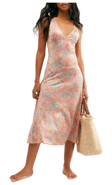 Free People nowhere to be slipdress in coral