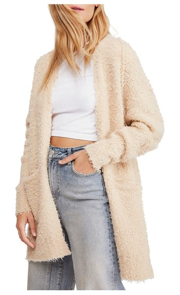 Free People once in a lifetime cardigan in beige