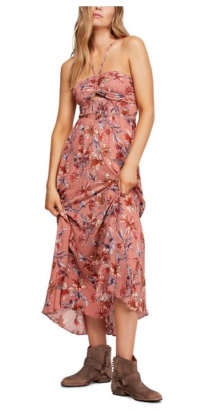 Free People one step ahead maxi dress in pink