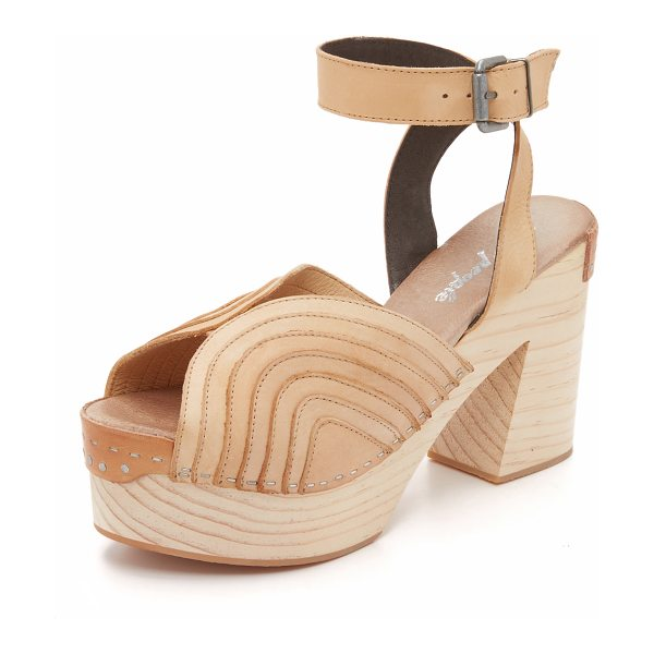 Free People Orion clogs in natural - Exposed seams accent the sculpted, layered vamp on these...