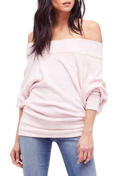 Free People palisades off the shoulder top in rose - Slouchy dolman sleeves and off-the-shoulder styling make...