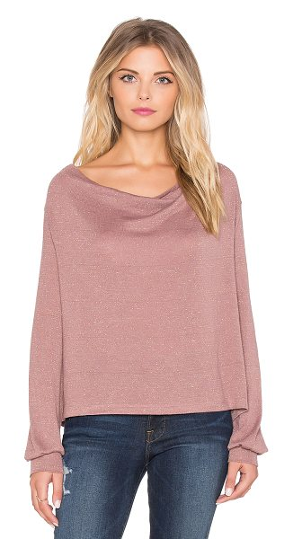 Free People Palmer tee in pink - 46% poly 45% rayon 7% other 2% spandex. Draped neckline....