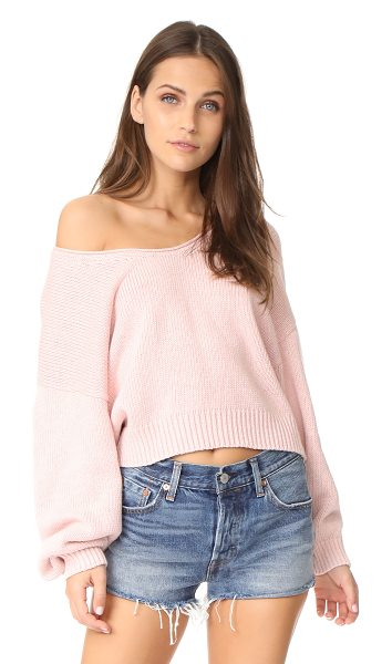 Free People perfect day pullover in rose