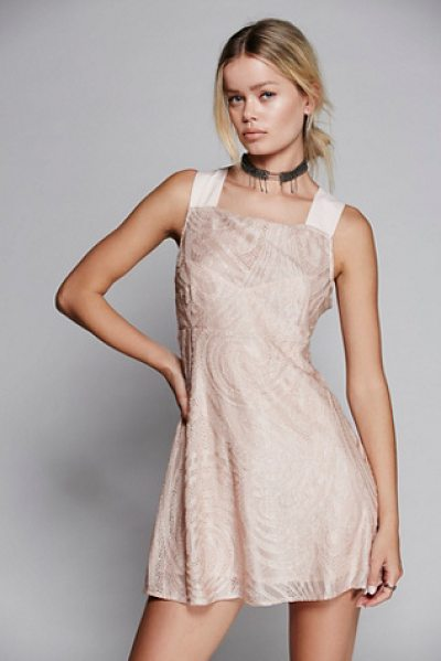 Free People Placed lace mini in ballet - Pretty mini dress with super sweet lace throughout....