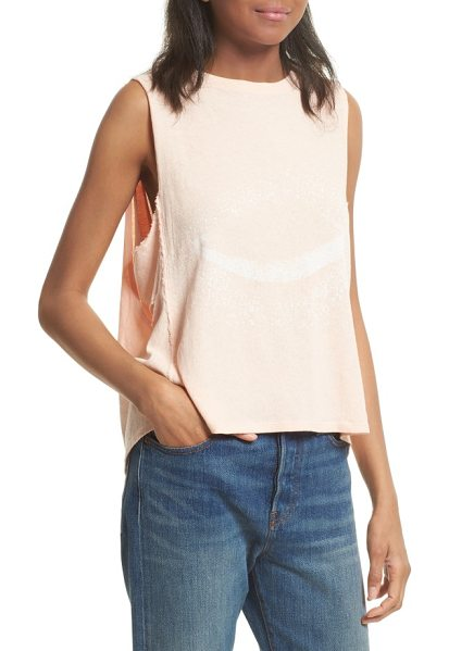 Free People planet me tank in peach - Showcase your cosmic style in this lightweight tank...