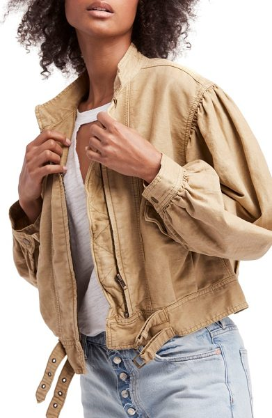 Free People poet jacket in taupe - You don't need to spend your days crafting endless lines...