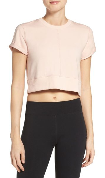 Free People fp movement power tee in pink - Modish and sporty, this cute cropped tee has...