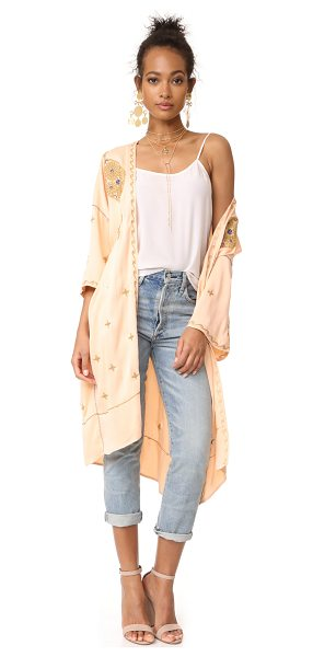 FREE PEOPLE pretty darn cute jacket - Metallic threads twist around the bohemian-inspired...