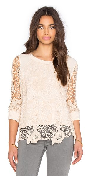 Free People Pretty rad pullover in blush - Self: 68% cotton 22% poly 10% rayonContrast: 100%...