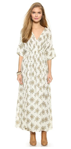 Free People Printed oasis maxi dress in vanilla combo - Rich prints bring a free spirited look to this Free...