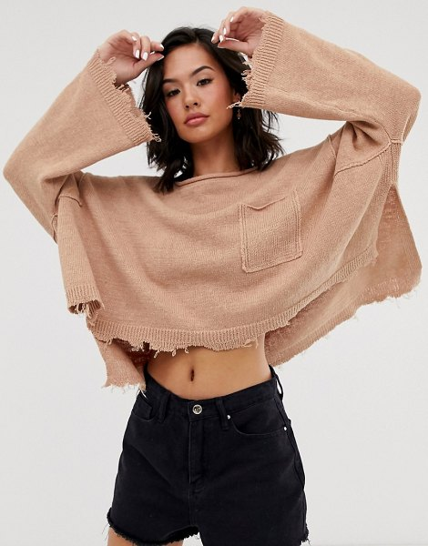 Free People prism solid lighweight knitted sweater-pink in pink