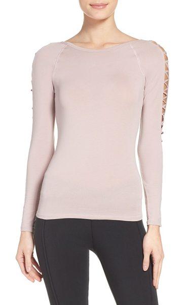 FREE PEOPLE fp movement rama layering top - A ballet neckline and openwork sleeves make this...