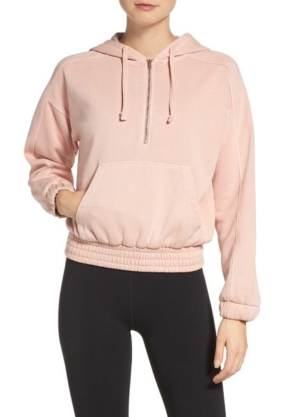 Free People fp movement retro vibes hoodie in rose - Vintage-inspired in a cozy cotton blend with a blousy...