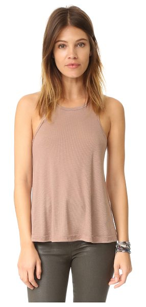 Free People rib slub long beach tank in neutral - An easy-to-layer Free People tank in lightweight ribbed...